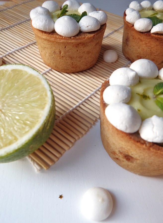 Mini-tartes citron vert et biscuit spéculoos