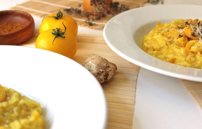 Risotto jaune aux courgettes jaunes et sans crème de Madamcadamia