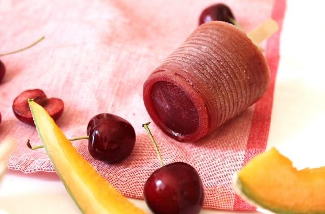 Glace à l'eau melon & cerises rapides à faire de Madamcadamia
