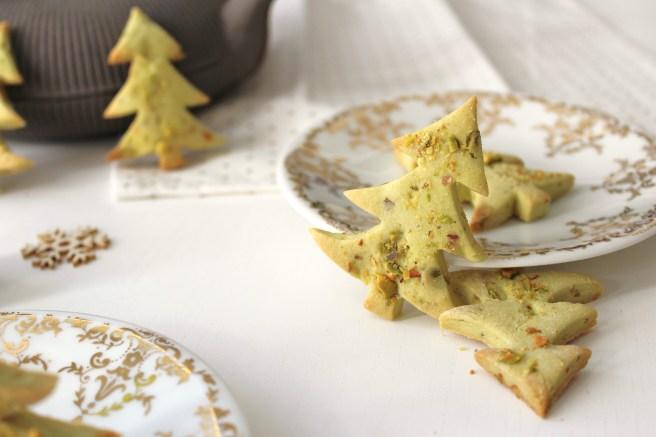 Sablés de Noël Sapins à la pistache