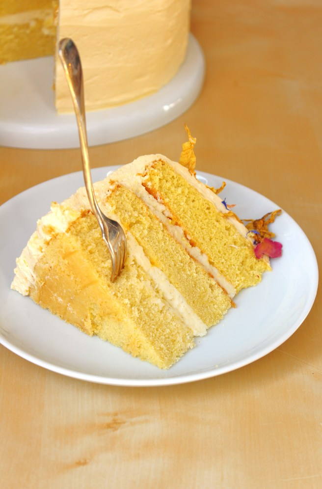 Layer cake passion & vanille de Madamcadamia