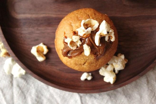 Muffins au pop-corn et caramel
