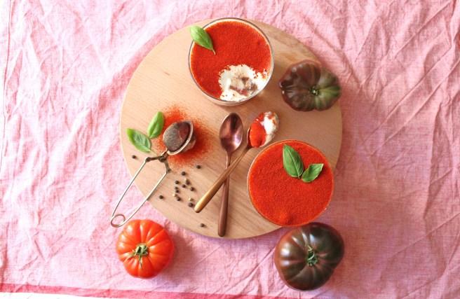 Tiramisu de tomates et mozzarella