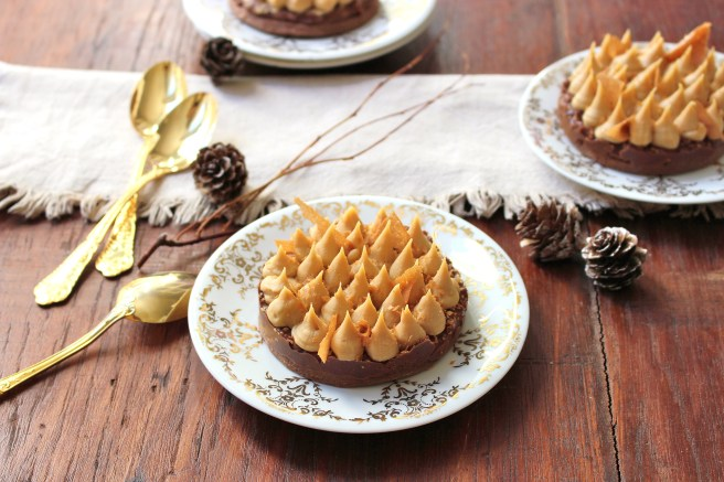 Tartelette croustillante au chocolat dulcey