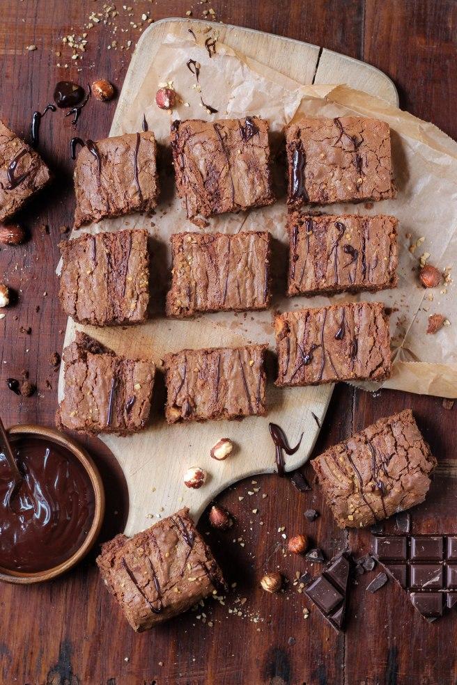 Brownies chocolat et noisettes
