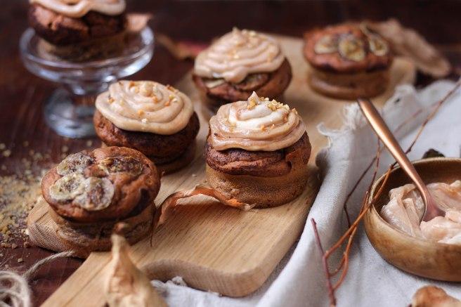 Minis banana bread à la crème de marrons