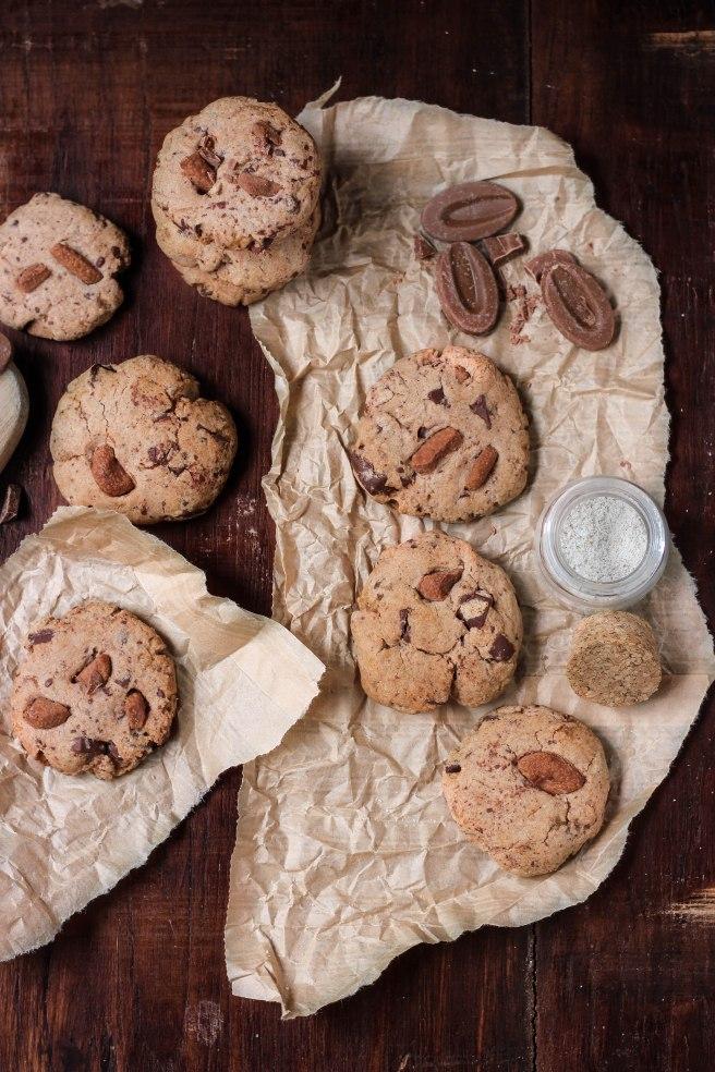 Cookies aux deux chocolats et fleur de sel - photography