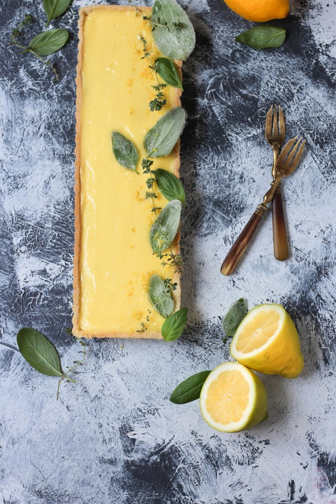 Tarte citron & basilic - Lemon pie photography