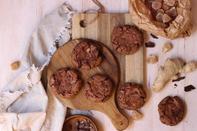 Cookies chocolat et gingembre confit - photography