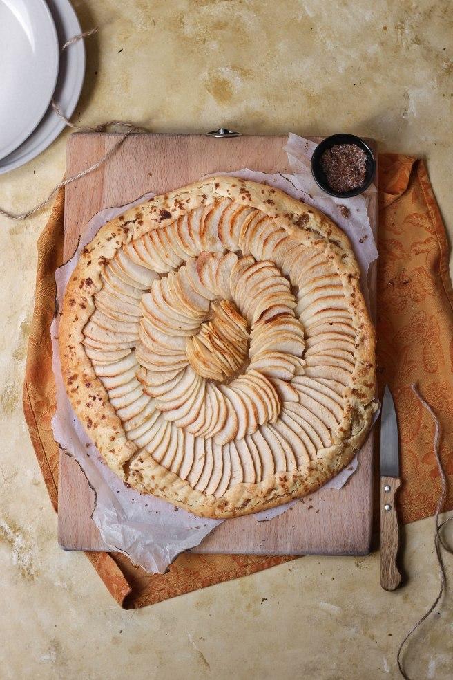 Tarte aux pommes - Apple pie photography