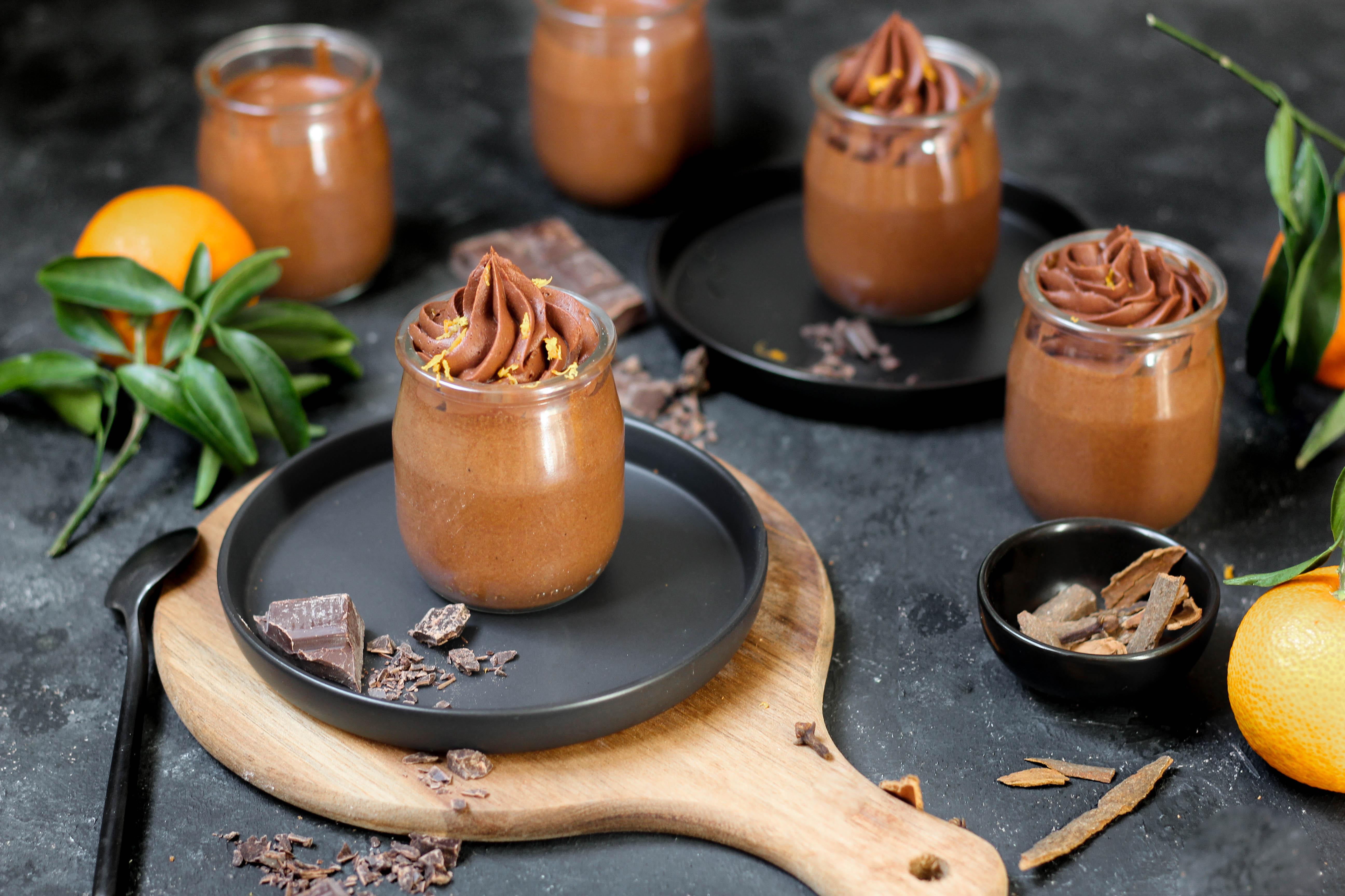 Mousses au chocolat aux épices - photography