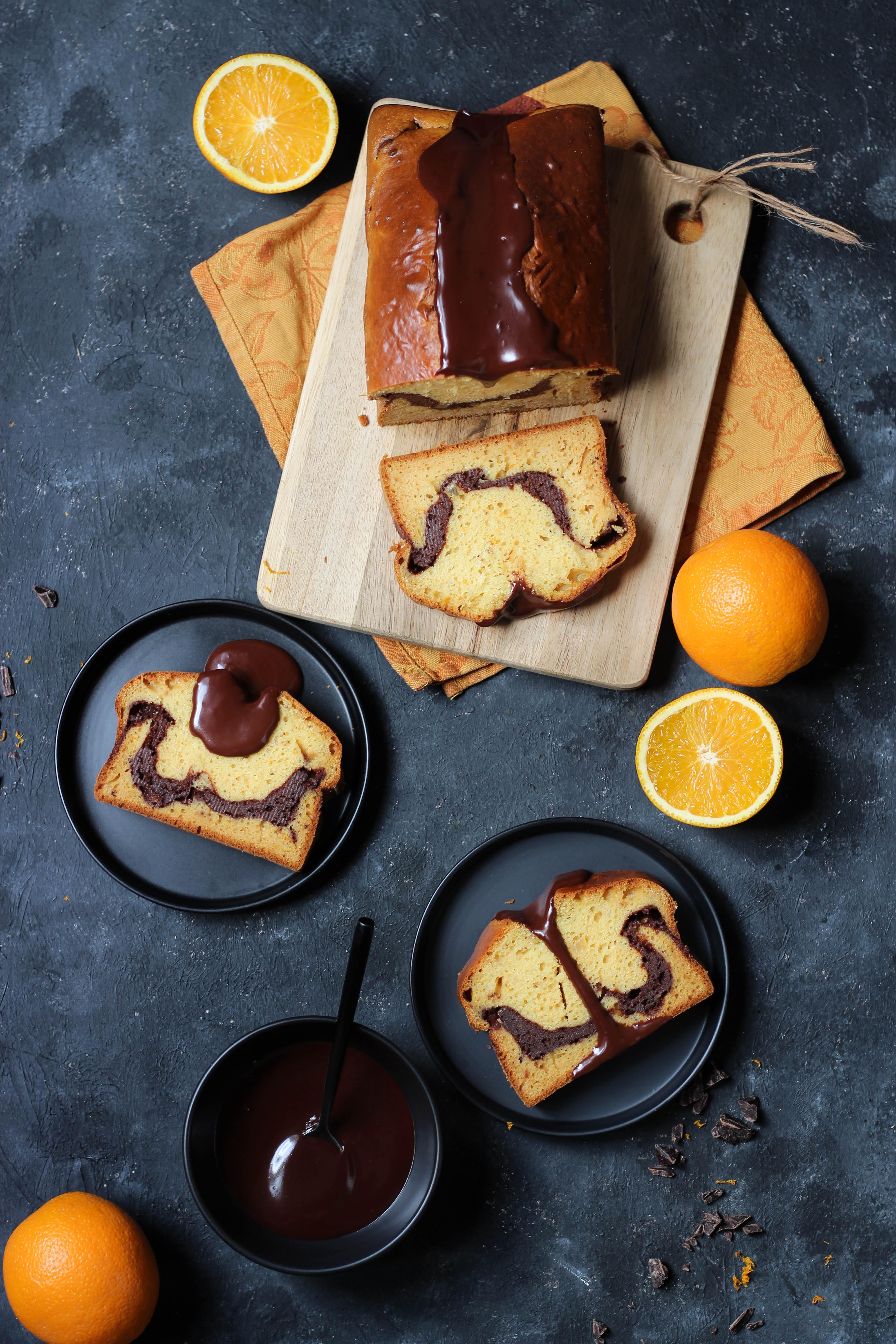 Cake à l'orange et chocolat - photography