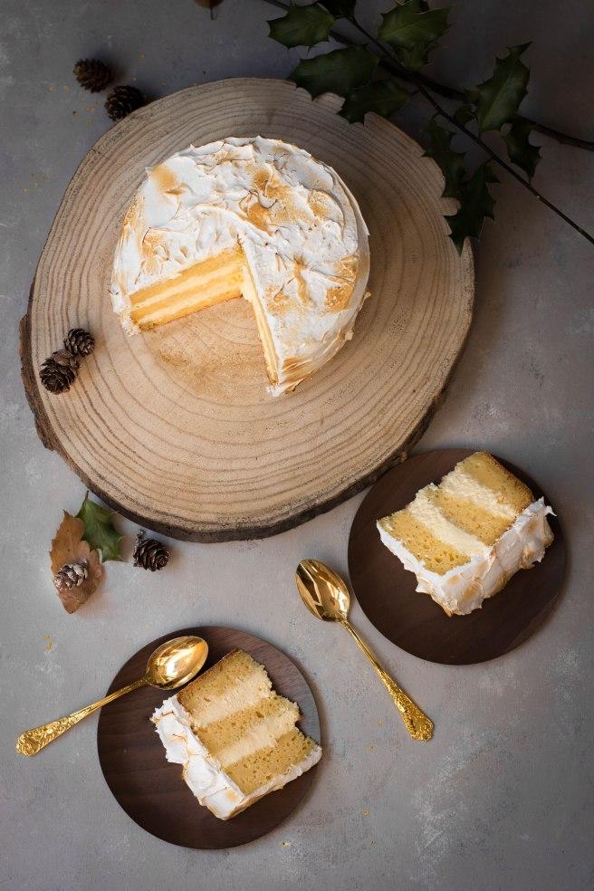 Layer cake citron meringué - dessert de fêtes photography