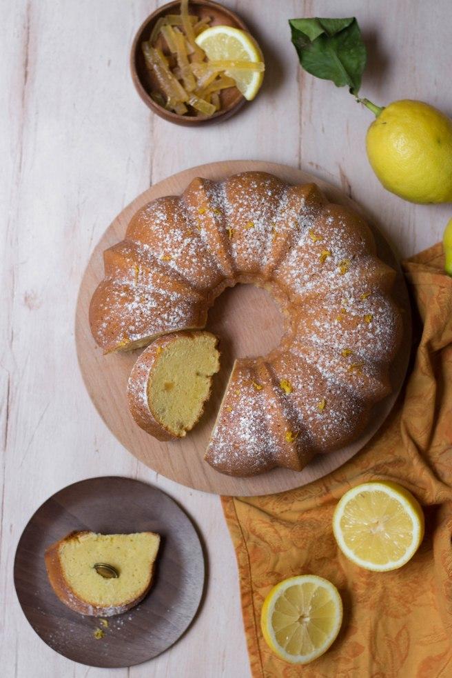 Bundt cake au citron - food photography