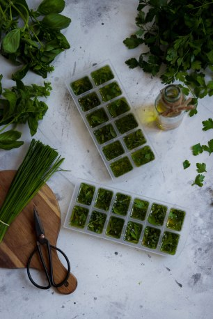 Recycler les herbes aromatiques - DIY food photography