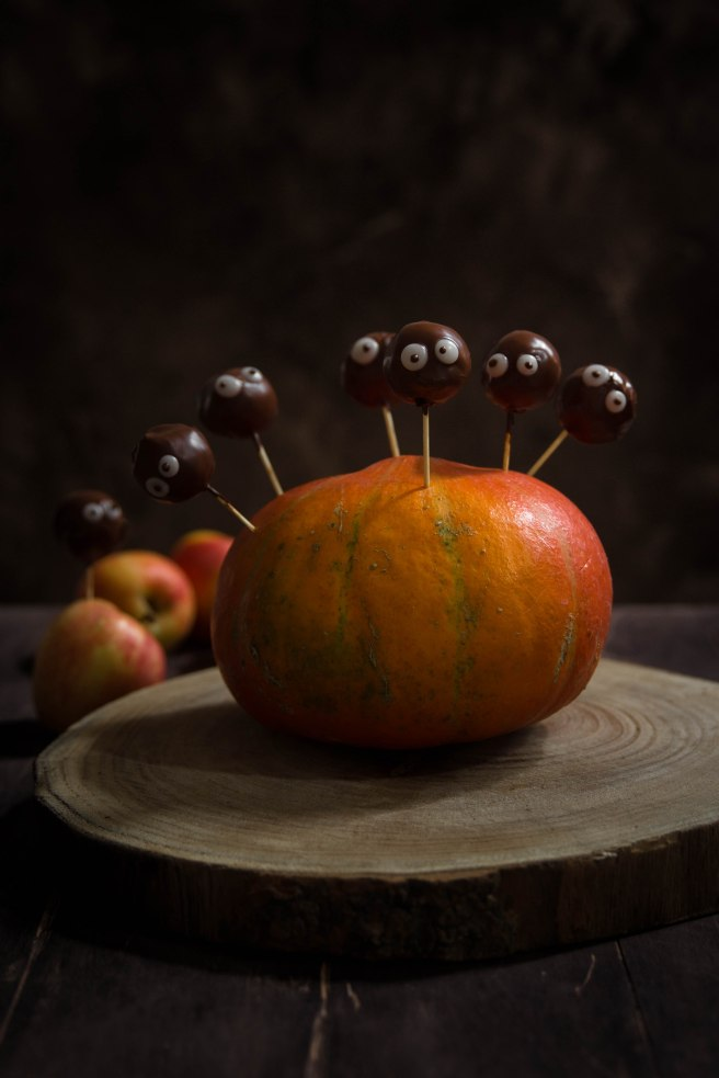 Apple pops d'Halloween à la pomme et au chocolat - photography
