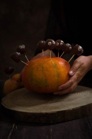Apple pops d'Halloween à la pomme et au chocolat - photography