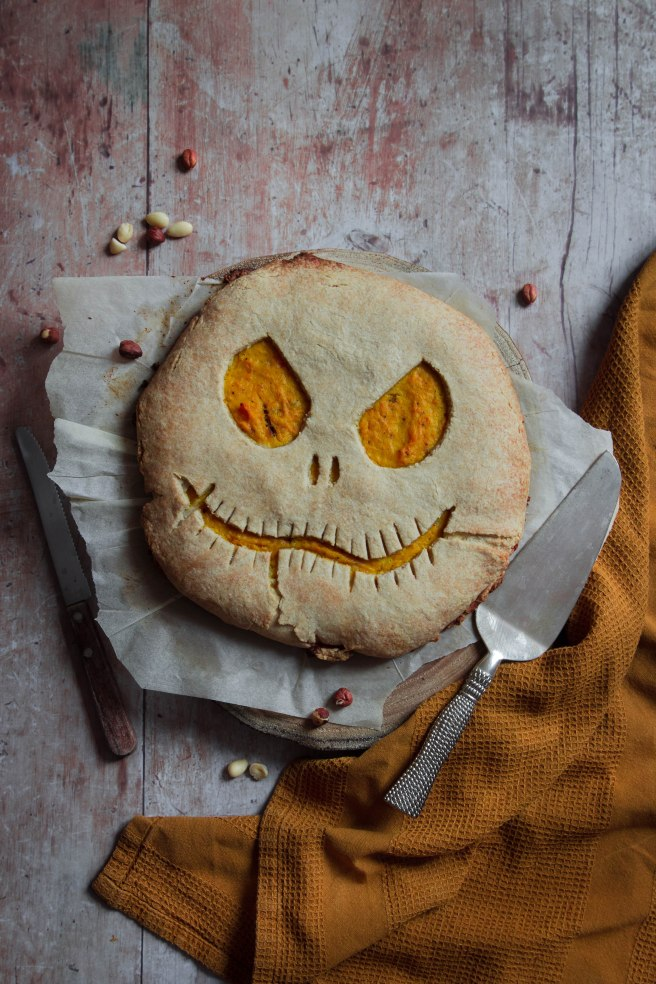 Tarte rustique au potimarron d'Halloween - Photography