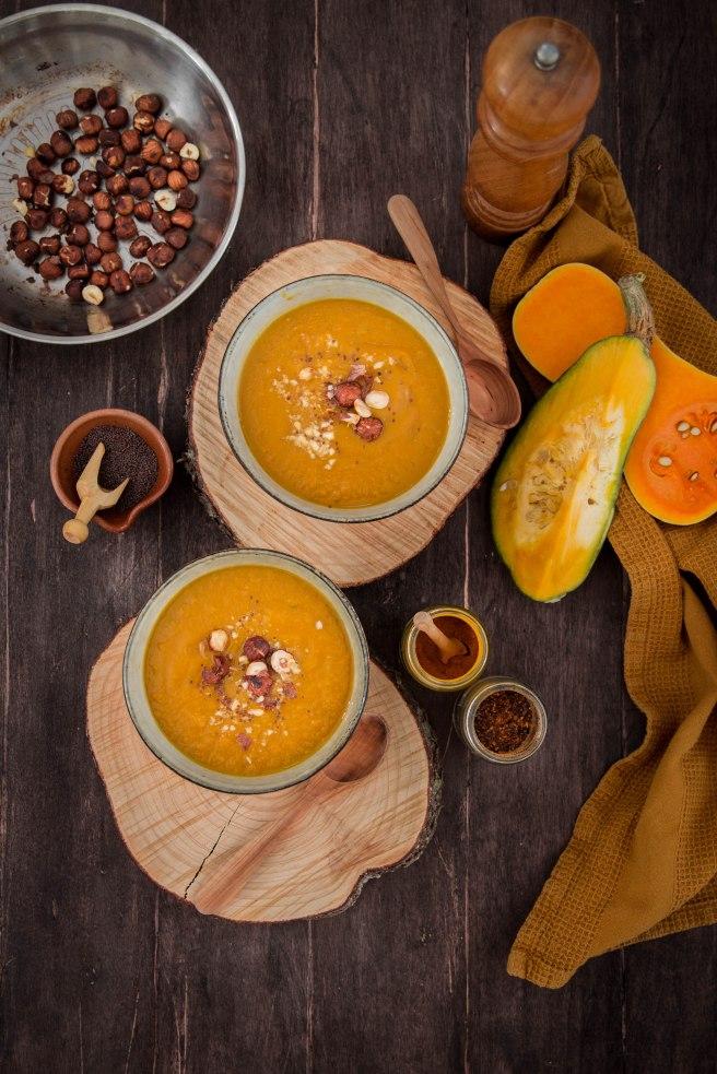 La parfaite soupe de courges d'automne - photography