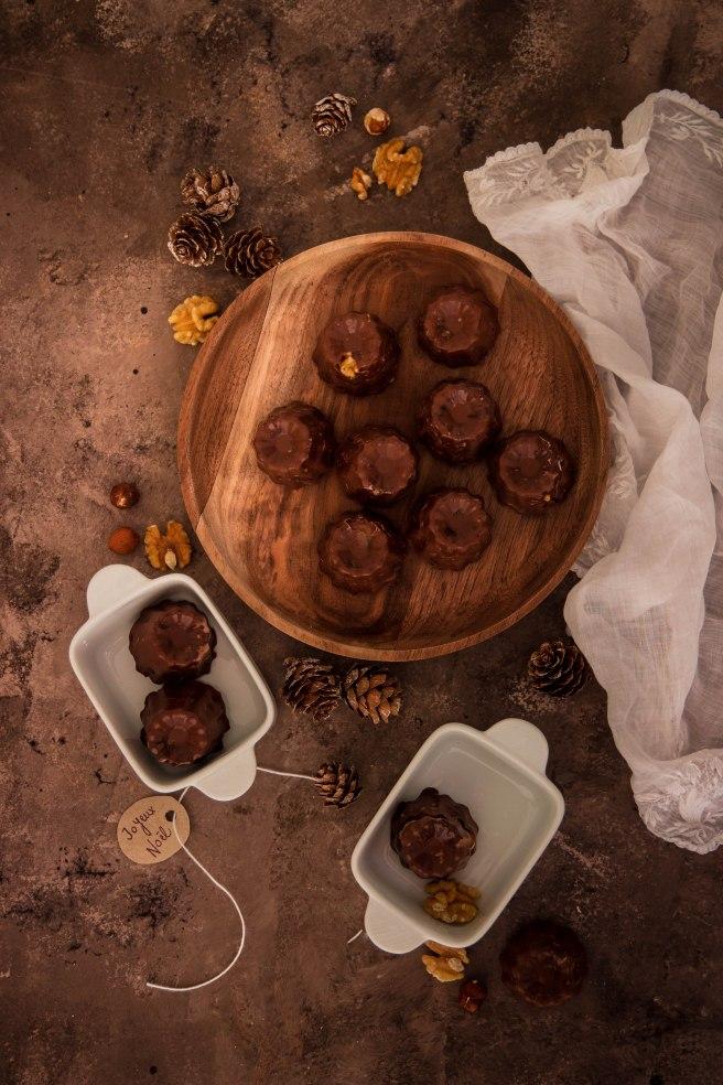 Cannelés façon mendiants de Noël à offrir - Christmas food photography