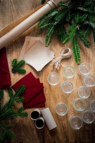 Calendrier de l'avent gourmand 2019 zéro déchet et réutilisable - DIY food photography