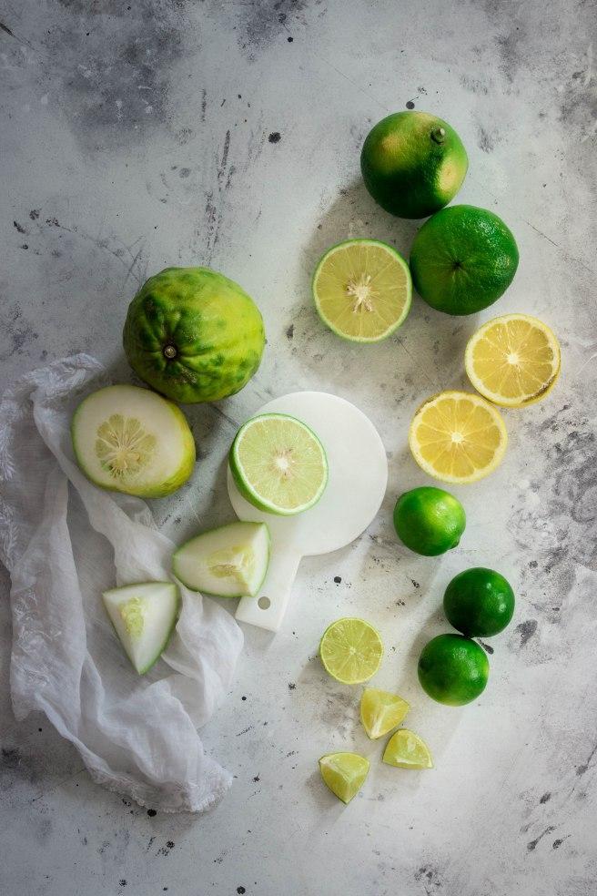 Sirop de cédrat et citrons verts fait maison - photography