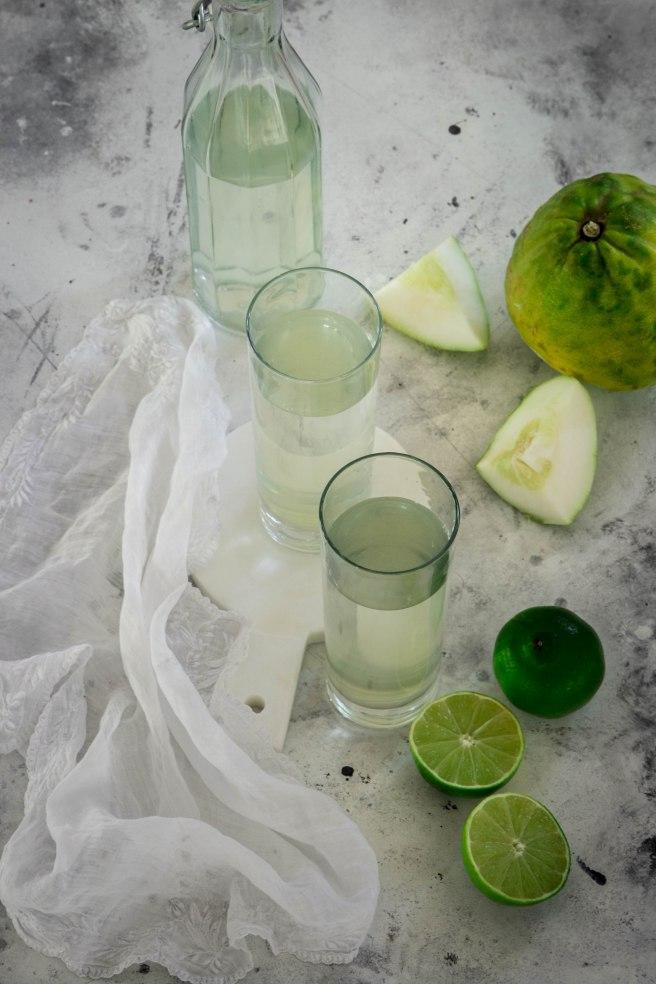 Sirop de cédrat et citron vert fait maison - photography