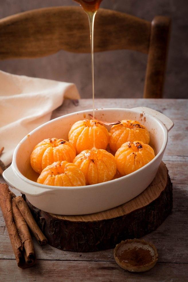 Clémentines rôties au miel d'acacia et cannelle - photography