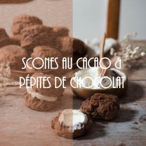 Recette de british scones au cacao et pépites de chocolat