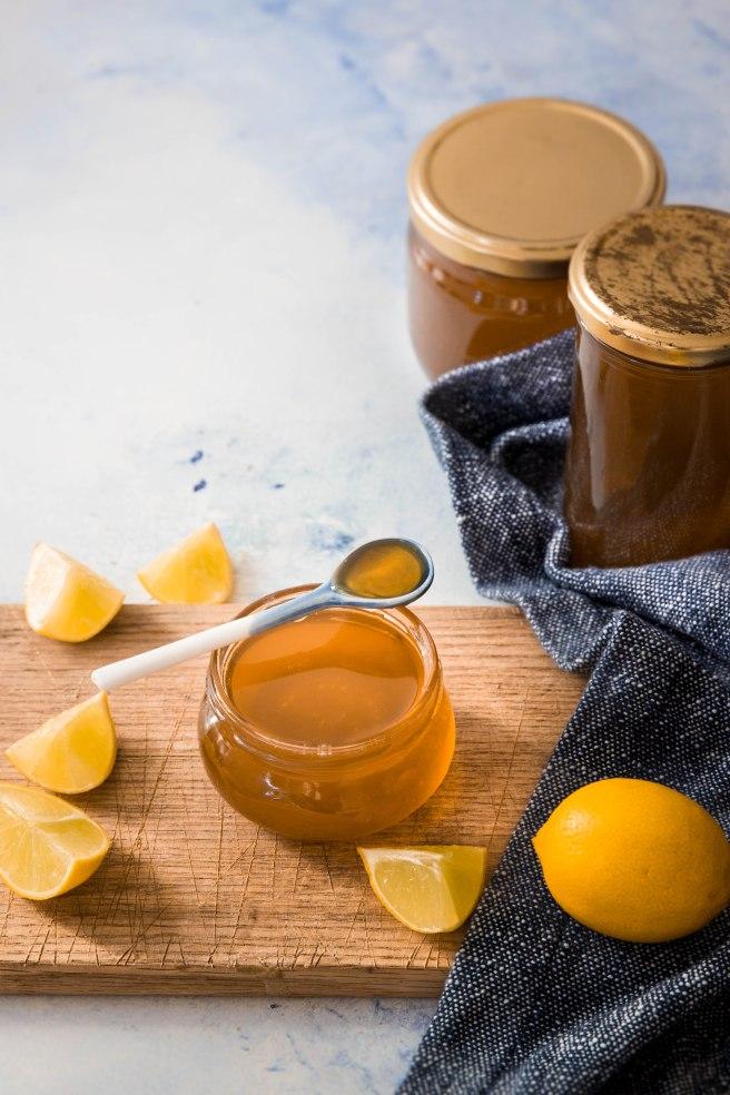 Recette de gelée au citron et citrons confits au sucre - lemon marmelade photography