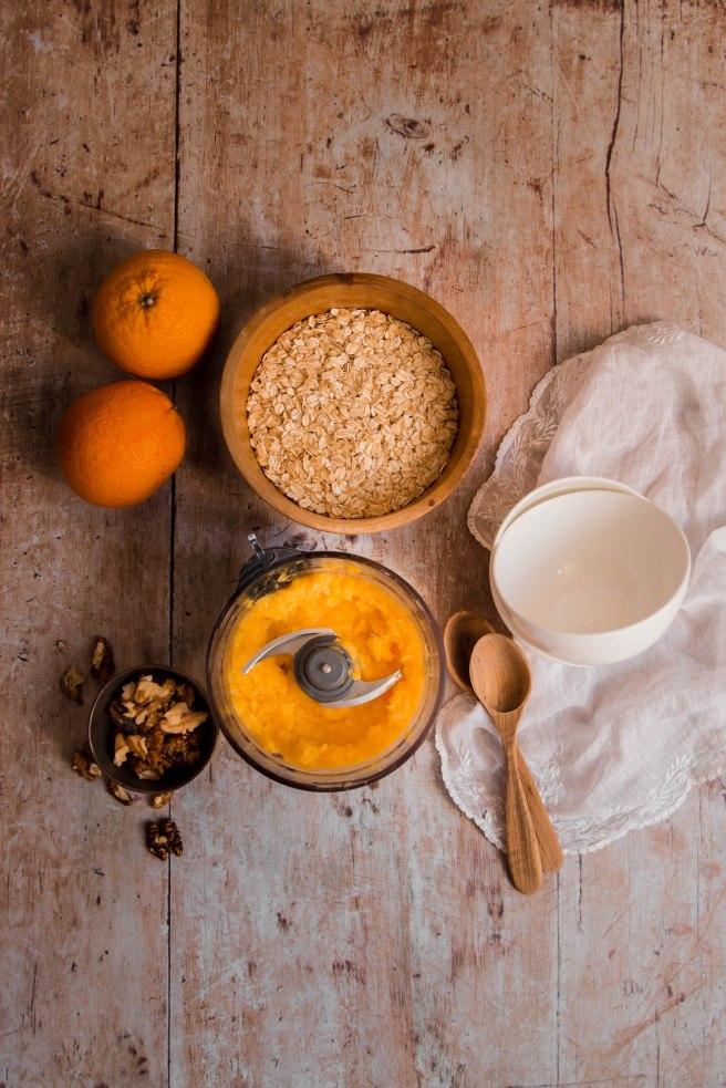 Porridge zéro déchet à l'orange pour le petit déjeuner - Photography