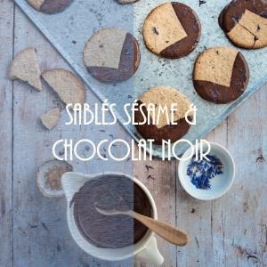 Recette de sablés au sésame et chocolat noir