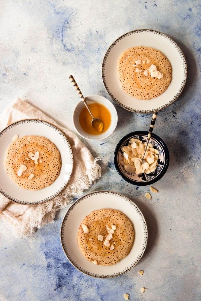 Baghrirs au miel ou crêpes mille trous - photography