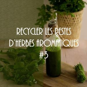 Comment recycler les restes d'herbes aromatiques en une huile verte