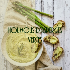 Recette d'houmous aux asperges vertes et citron confit