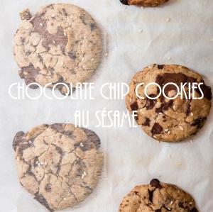 Recette de chocolate chip cookies au sésame