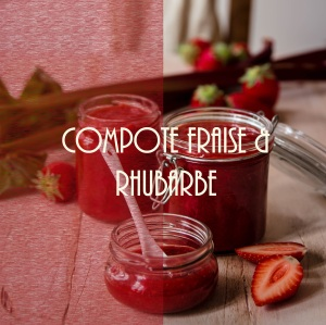 Recette de compote de fraise et rhubarbe
