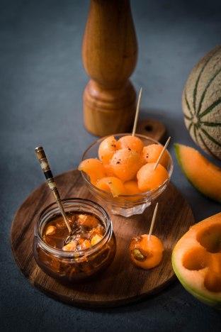 Confit d'épluchures de melon anti-gaspi et zéro-déchet - melon jam photography