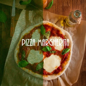 Pizza Margherita comme en Italie - pizza photography