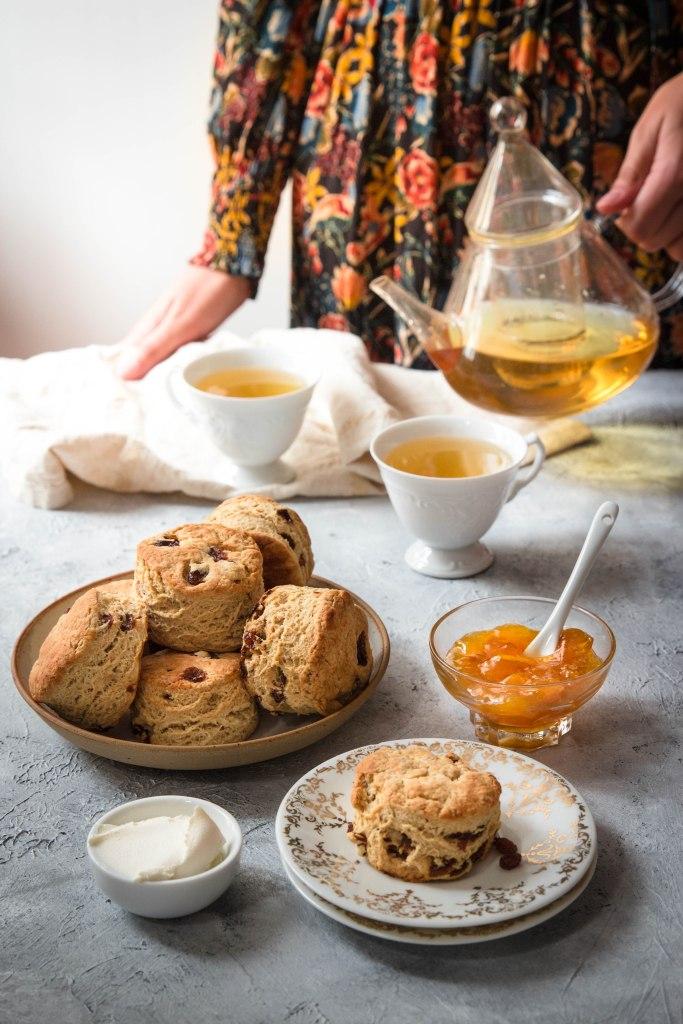 Scones anglais au thé Earl Grey - photography