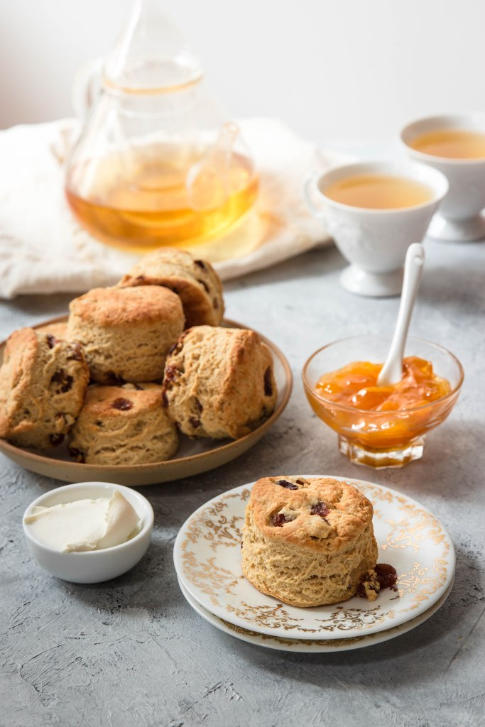 Scones anglais au thé Earl Grey - photography