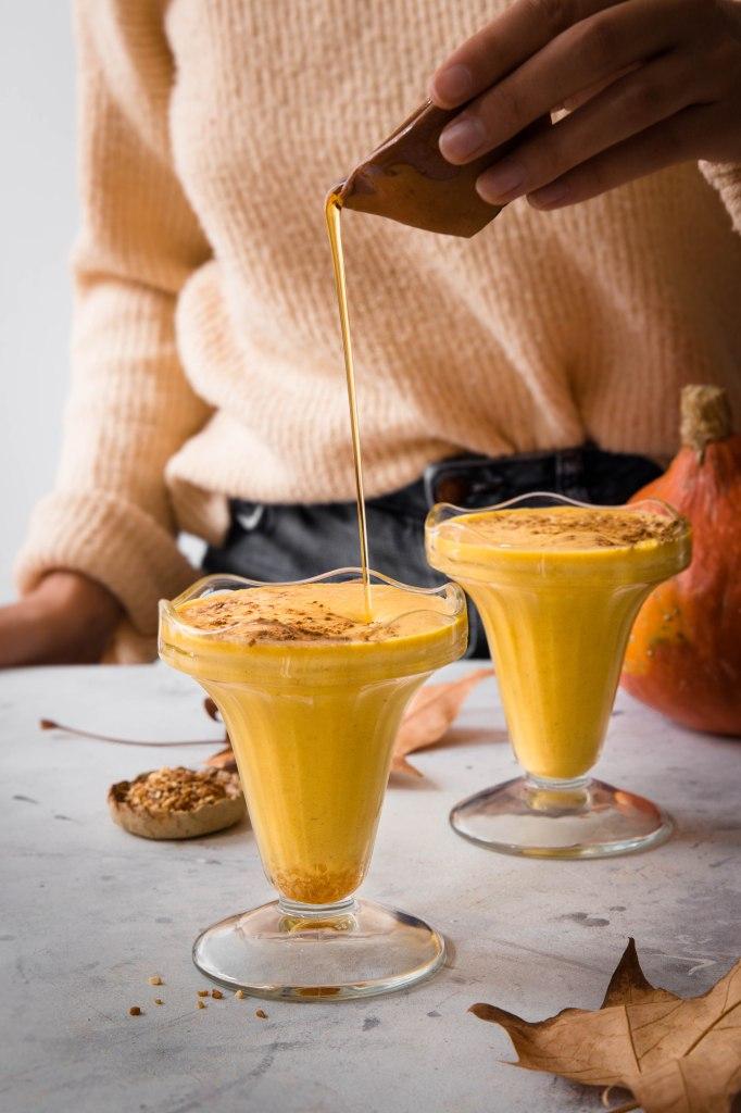Milkshake de potimarron au sirop d'érable d'automne - photography
