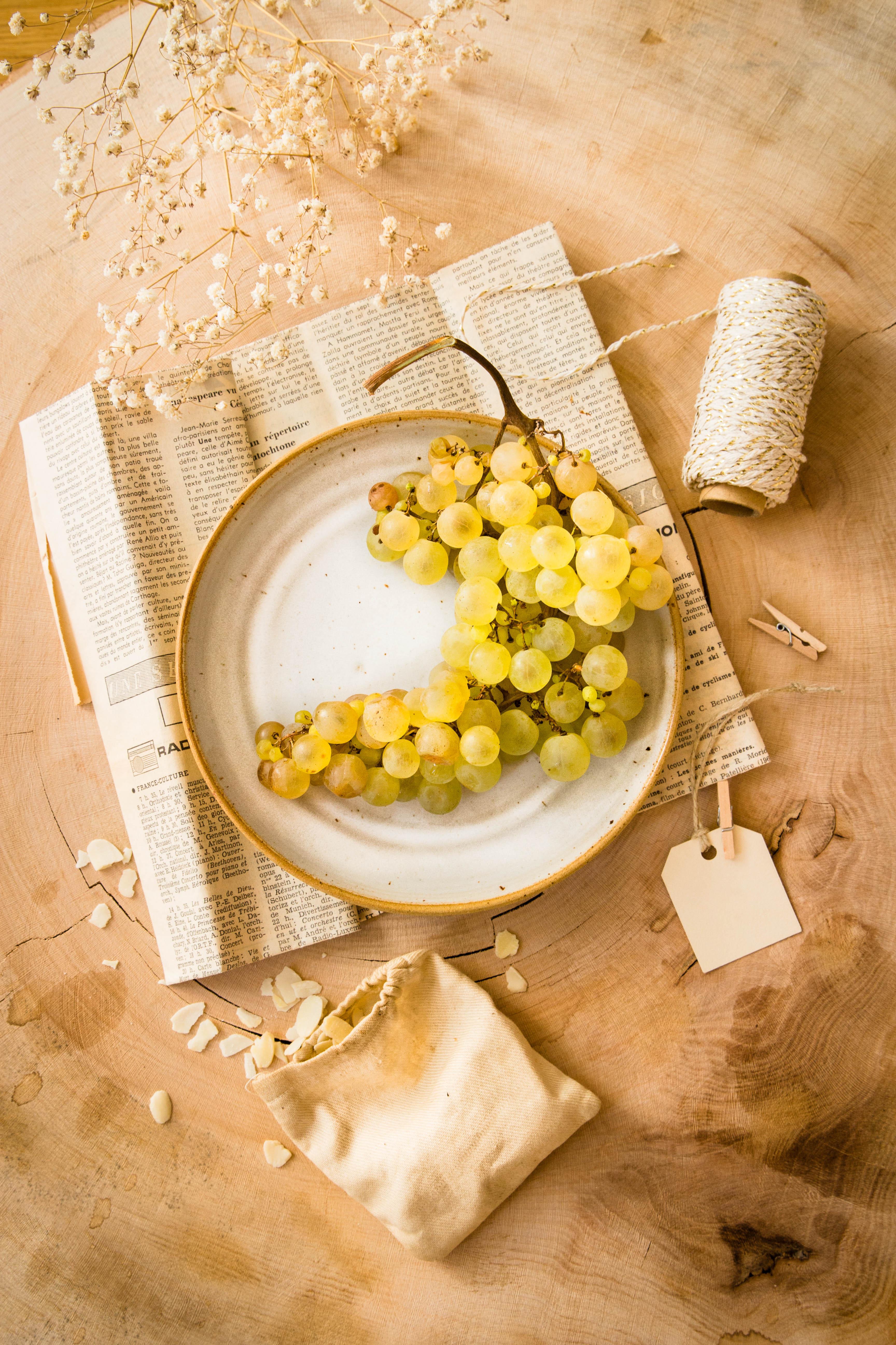 Composition d'automne avec raisin chasselas - portfolio madamcadamia