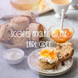 Recette de scones anglais infusés au thé earl grey