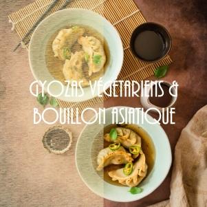 Recette de gyozas végétariens et bouillon chaud aux saveurs asiatiques