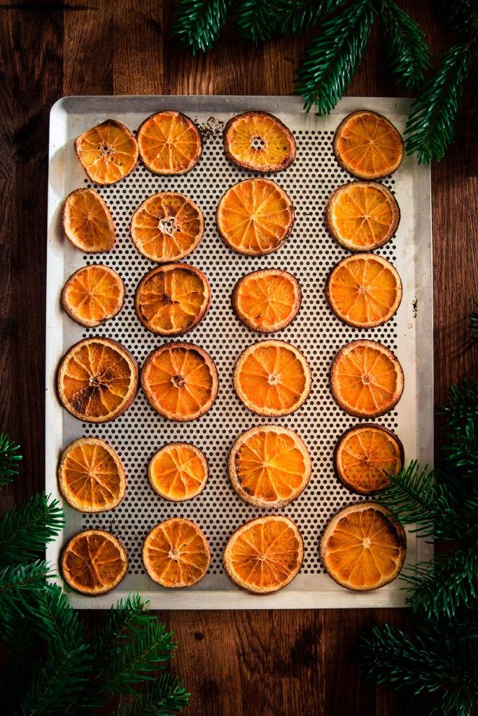 Rondelles d'orange séchées de Noël - DIY de Noël photography