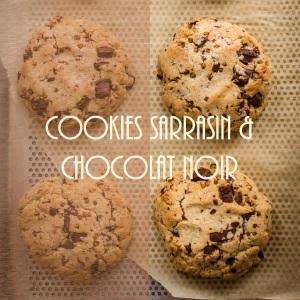 Recette de cookies au sarrasin torréfié et chocolat noir - photography