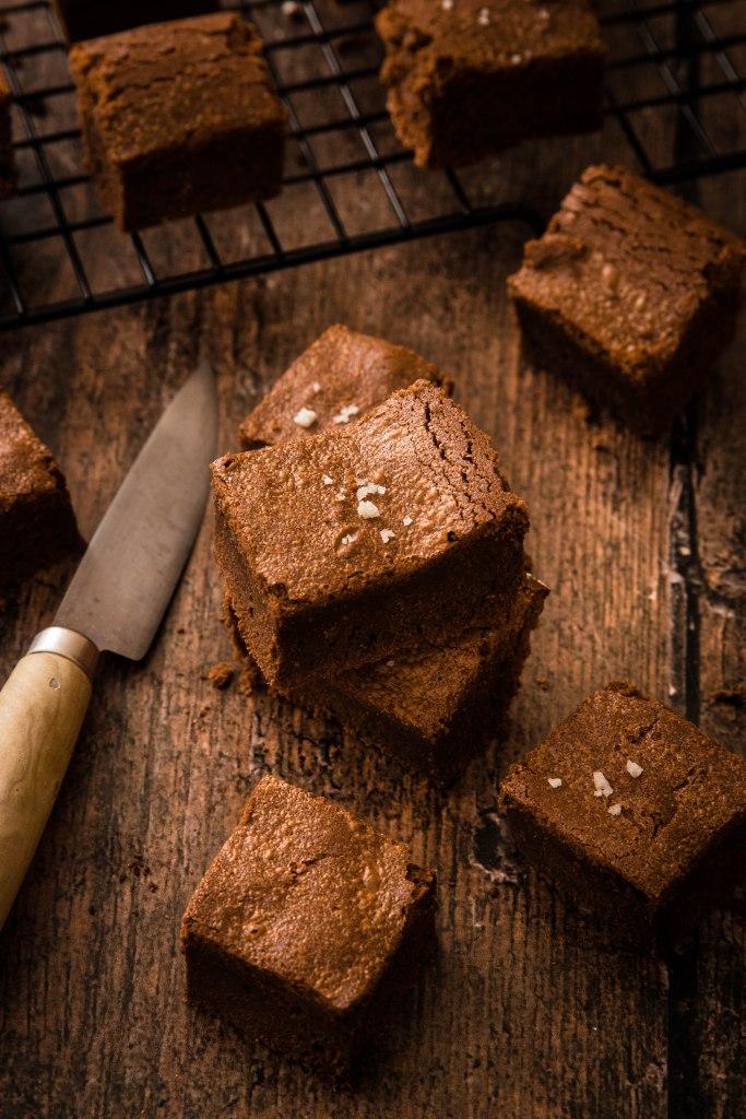Les parfaits brownies au chocolat noir et fleur de sel - photography