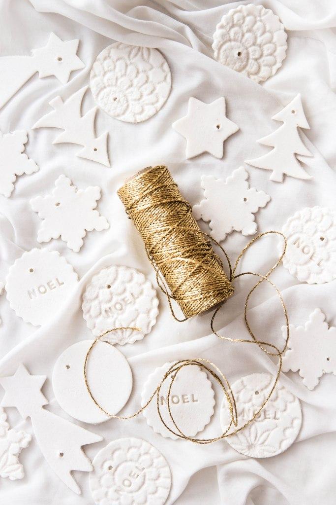 Comment réaliser des décorations de Noël en plâtre alimentaire - DIY de Noël photography