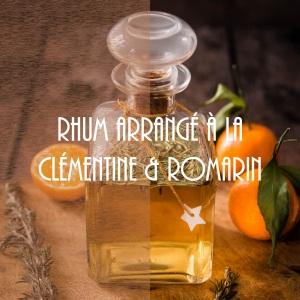 Recette de rhum arrangé à la clémentine et romarin